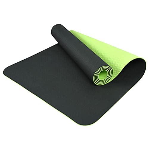 Stylebest Esterilla de Yoga, Esterilla de Yoga Antideslizante de 6 mm de Grosor, Esterilla de Ejercicio ecológica de TPE Esterilla de Entrenamiento para Yoga, Pilates y Gimnasia 183 x 61 x 0,6 cm