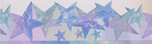 Purple Blue Green Stars Abstract ISB4152B Wallpaper Border