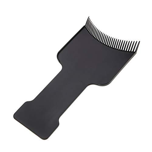 Lurrose Haarkleuring Kam voor het verven DIY Kappers Tint Brush Tool Maat S 2 stks (zwart)