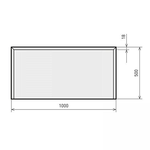 raik B40020 Kamin Glasplatte Rechteck 2 inkl. Facette