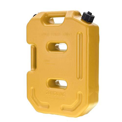 DLYDSS 10L Jerry Can, Kraftstoffbehälter, Gas Benzin Reserverad, Auto-Motorrad-Berg Fuel Tank Container (Color : Yellow)