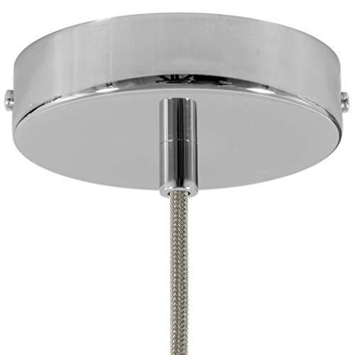 creative cables Zylindrischer Lampenbaldachin Kit aus Metall - Zylindrisch, Chrom