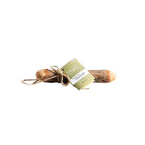Chewies Kau-Knochen Hunde-Spielzeug aus Olivenholz, 100% natürliches Hundezubehör, Kauspielzeug Hund bis 20kg Größe M