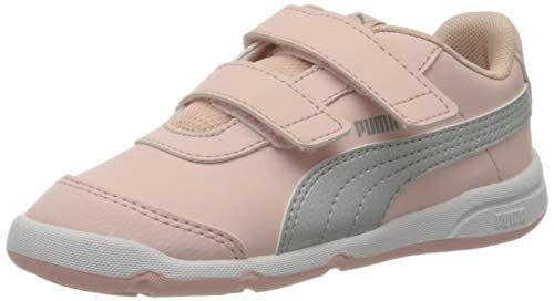 PUMA Unisex Baby Stepfleex 2 Sl Ve V Inf Sneaker, Peachskin Silver White-Limestone, 27 EU