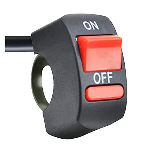 Interruptor de control multifunción Interruptor de flameo de manillar de motocicleta universal ENCENDIDO APAGADO Botón para moto moto bicicleta DC12V / 10A Negro Utilizado para bicicletas, motocicleta