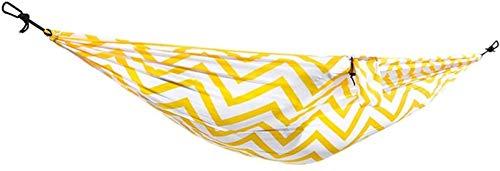 ZJDU Tragbar Erholung Hängematte Outdoor Swing Camping Tragbare Antirenlover Hängematte mit bis zu 300 kg für Rucksack Camping Backyard Outdoor Geschenke für Wanderer (Farbe: rot) (Color : Yellow)