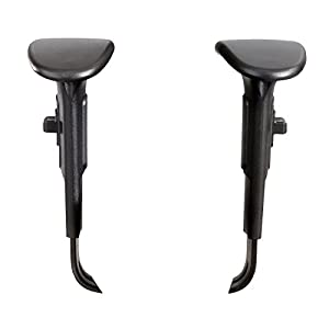 Safco Products 3399BL Adjustable Width Arm Set for use with Alday 3391  Vue 3394 and 3397 Chairs (sold separately)  Black