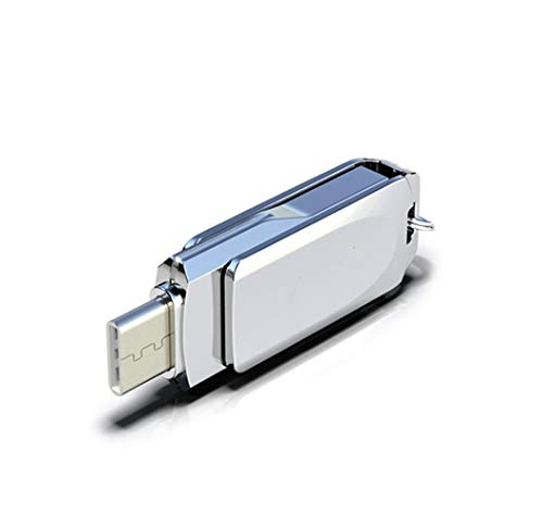 LIMTT USB Memory Stick, Flash Drive, Thumb Drive USB Stick Type C USB Externe Opslag U Schijf Compatibel voor USB C telefoons, Tablets, Foto Stick voor Samsung 64GB ZILVER