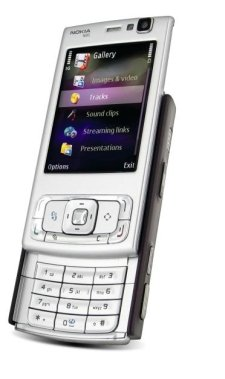 Nokia N95 entsperrtes Handy mit 5-MP-Kamera, Internationales 3G, WLAN, GPS, MP3-/Video-Player, MicroSD-Slot-Internationale Version ohne Garantie (Braun)