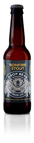 Drop Bear Beer, Cerveza sin alcohol, cerveza artesanal premium sin alcohol, sin gluten, vegana, botellas de 330 ml (hoguera, 6 botellas)