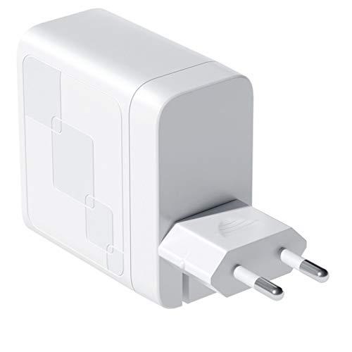 ASFD Cargador de 65W GAN Quick Charge 4.0 3.0 Type C PD Cargador USB con QC 4.0 3.0 Cargador rápido portátil para teléfono portátil (Blanco UE)