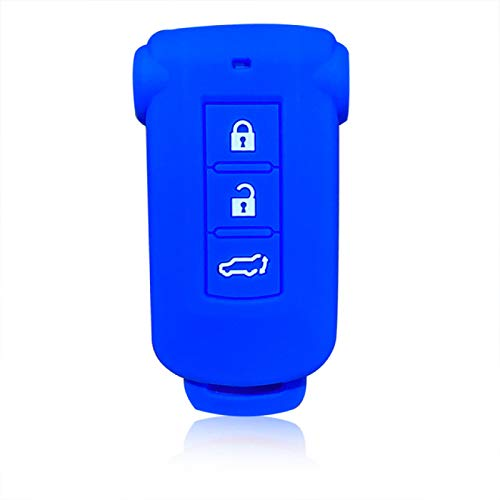 ZHANGERDAN Caso de la cubierta de la llave del coche del gel de sílice Caso del control remoto del tenedor de la llave para la alarma del llavero.Para Mitsubishi Outlander 2014 Pajero Delica