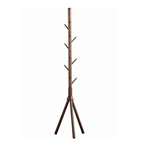 MKVRS Perchero de pie La Ceniza de Madera Perchero Moderno Minimalista Triángulo Base Perchero de pie De pie Inicio Ropa tendida Rack de Almacenamiento Dormitorio Percheros (Color : Walnut)