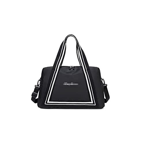 MQH Bolsa de Viaje Grande Bolsa de Lona de Viaje Grande con Zapatos Compartimiento Ligero Weekender Bag Gym Bag para Mujer Hombre niños Adultos Nadando Bolsa de Deporte (Color : Black, tamaño : 15in)
