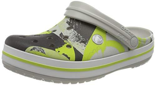 Crocs Unisex-Erwachsene Crocband Ombreblock Clogs, Mehrfarbig (Pearl White/Multi), 36-37