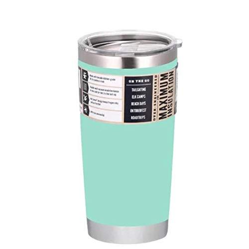 Vaso de 20 oz Taza de Viaje para automóvil Frascos de vacío de Doble Pared Botella de Agua Termo de Acero Inoxidable con Aislamiento Taza de café de Cerveza fría o Caliente