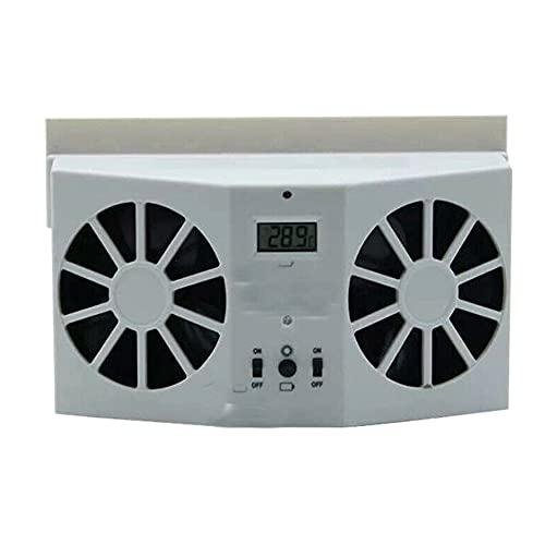 Syfinee Coche portátil silencioso aire acondicionado solar ventilador de refrigeración auto camión vehículo refrigerador ahorro de energía