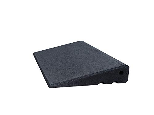 Türschwellenrampe Excellent 500/65 mm hoch aus Gummigranulat hochverdichtet (schwarz)