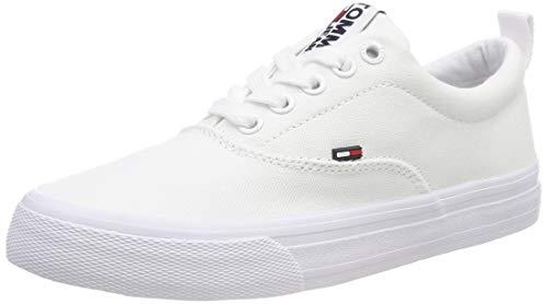 Hilfiger Denim Damen WMN Classic Tommy Jeans Sneaker, Weiß (White 100), 39 EU