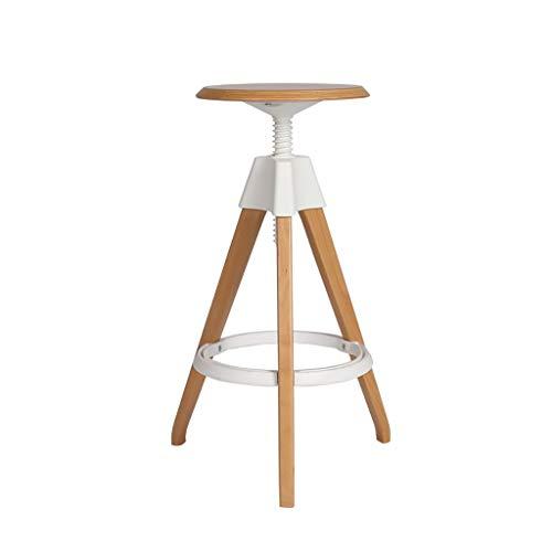 Effen houten barkruk moderne minimalistische barstoel rugleuning hoge kruk barkruk voorzijde kassier hoge stoel woonkamer keuken C