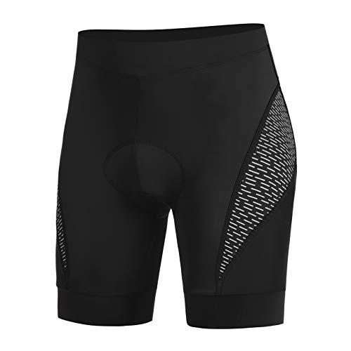 COOrun Pantaloncini con Bretelle da Ciclismo da Uomo Cuscino da Seduta 3D Salopette da Ciclismo da ad Asciugatura Rapida Pantaloncini Traspiranti (Nero , XL)