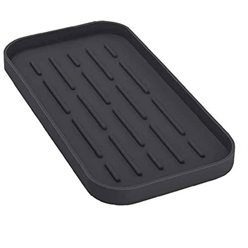 lujiaoshout Disipador de Secado Almohadilla Cuadrada de Cocina Placa de Secado Cubierta de Drenaje Placa de Almacenamiento Esponja Organizador Negro Gadget