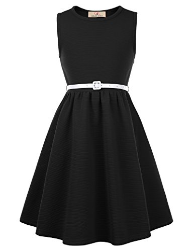GRACE KARIN Maedchen Party Kleid Sommer Kleid 11-12 Jahre CL10482-1