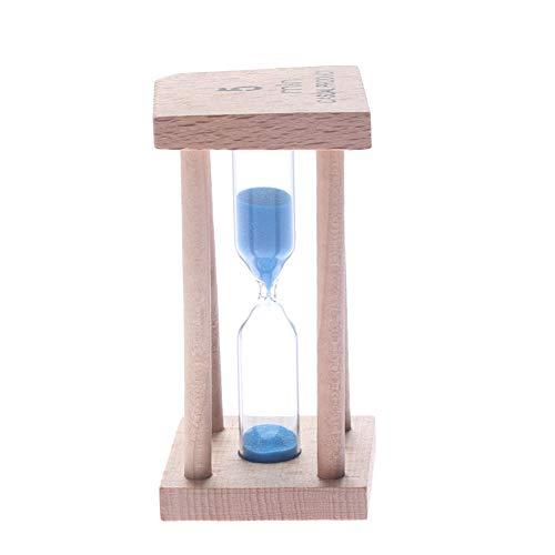 USNASLM 5 minutos colorido cepillo de dientes temporizador arena arena reloj temporizador madera 5 minutos cuenta atrás niños temporizador arena reloj