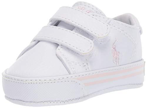 Polo Ralph Lauren baby girls Easten Ez Crib Shoe, White, 0 Infant US