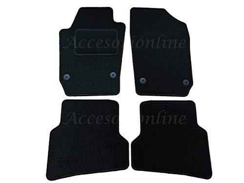 Accesorionline Alfombrillas Seat Ibiza 2008-2017 con Acabado Ibiza alfombras esterillas 6J