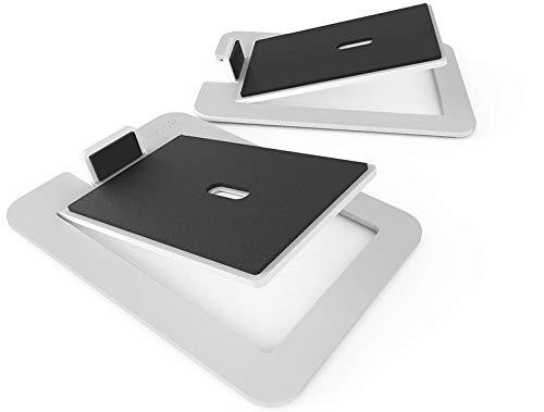 Kanto S6W Tisch-Lautsprecherständer für große Lautsprecher, Weiß (Paar)