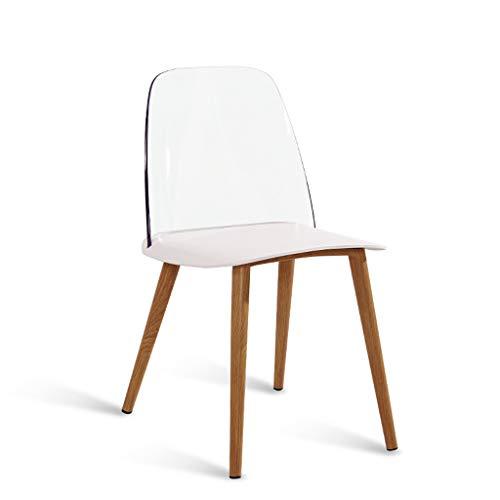 MLMHLMR Art Und Weise Nordischer Dänischer Entwerferspeisehocker, Um Beiläufiger Nach Hause Kreativer Moderner Minimalistischer Stuhl Der Persönlichkeit Zu Besprechen Sessel (Color : White)