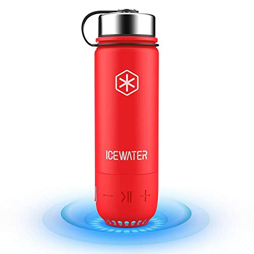 ICEWATER 3-in-1 Smart Stainless Steel Water Bottle(Glows to Remind You to Stay Hydrated)+Bluetooth Speaker+ Dancing Lights,20 oz,Stay Hydrated and Enjoy Music,Great Gift