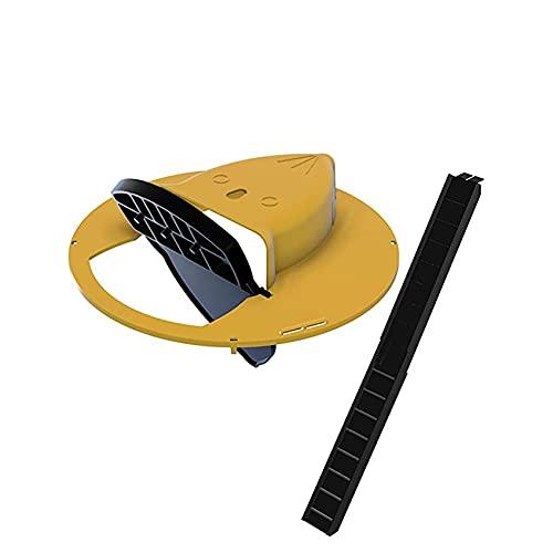OHQ Trampa para Ratones con Tapa Deslizante Flip N,Trampa para Ratas Inclinada Restablece AutomáTicamente Humana O Letal Estilo Puerta SóLido Duradero Fuerte Practicidad (Amarillo)