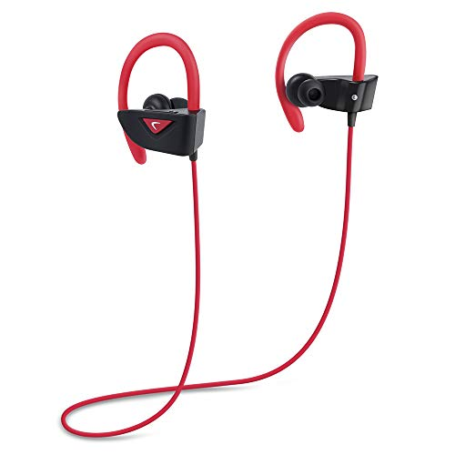 Photive BTE9 Bluetooth Earbuds Rechargeable Wireless Sports Headphones with Microphone for Running & Workouts. Bluetooth Headphones for iPhone 7 Samsung Galaxy S7 and Android Phones
