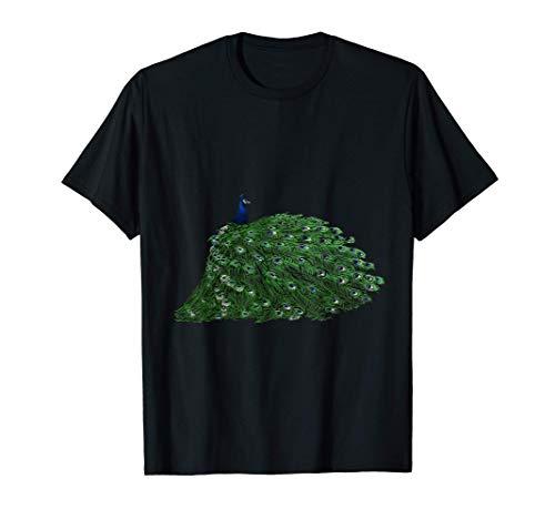 Pfauenfedern mit Pfau als Geschenk für Tier & Pfauen Freunde T-Shirt