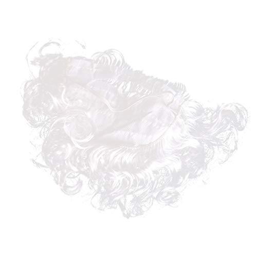 PRETYZOOM - Disfraz de Papá Noel con barba de color blanco