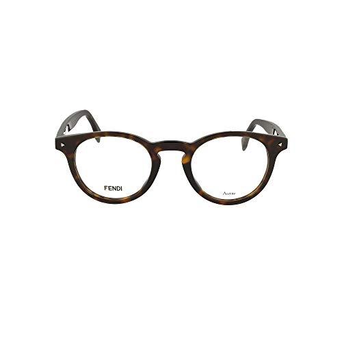 FENDI Luxury Fashion Uomo FF021908622 Marrone Acetato Occhiali | Primavera-estate 20