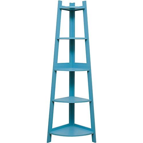 Boekenkasten FEIFEI Fan-vormige Milieubescherming MDF Woonkamer Slaapkamer Hoek Blauw Boekenkast, 37 * 37 * 152cm