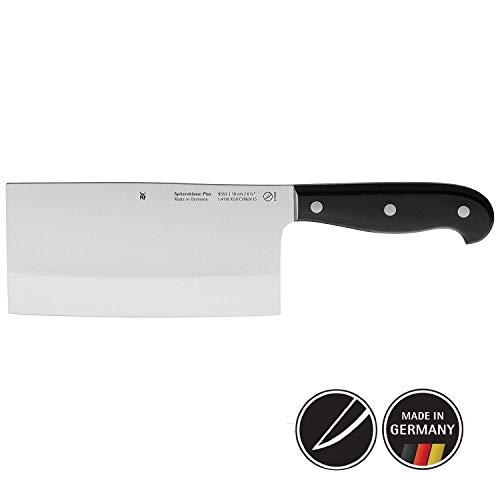WMF Spitzenklasse Plus Chinesisches Kochmesser 27,5 cm, Spezialklingenstahl, Messer geschmiedet, Performance Cut, Kunststoff-Griff vernietet, Klinge 16 cm