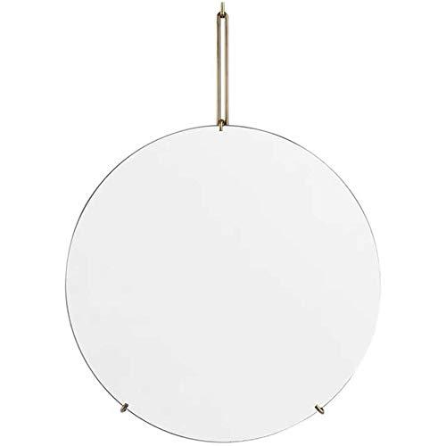 Badkamer ronde spiegel wc wc-muur gemonteerde spiegel persoonlijkheid creatieve make-up spiegel aan de muur gemonteerde badkamerspiegel,White,30cm
