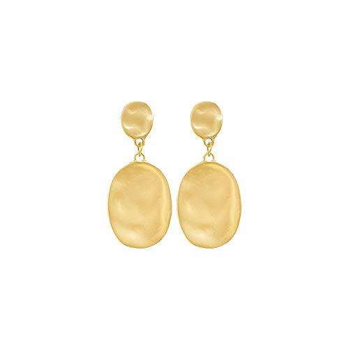2020 Pendientes de Gancho para la Oreja para Mujer Pendientes de Nudo geométrico de Metal Pendientes Colgantes de Metal Dorado