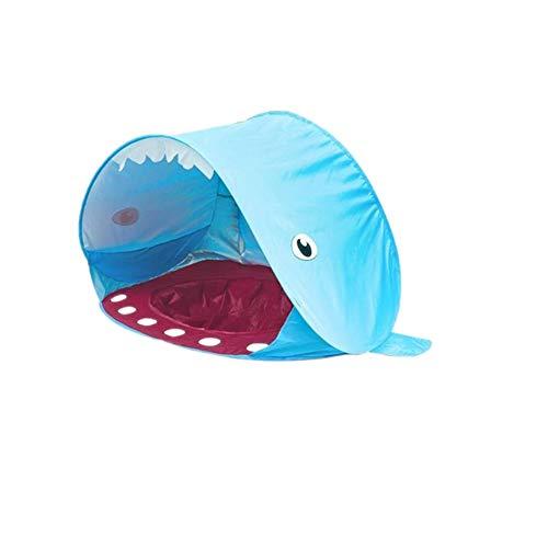 Edward Jackson Sommer-Baby-Strand-Zelt for Kinder Wal Form UV-Schutz Regen sicher Shelter Pop Up Sonnenschutz-Markise Zelt Kinder Sunshelter mit Pool Zelt für Famping (Color : Blue)