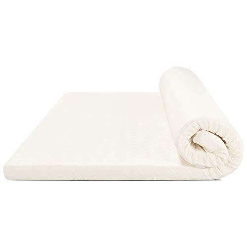 YOUWIN Colchoncillo de espuma viscoelástica, 140 x 200 cm, para camas de primavera, altura del colchón 6 cm, tamaño del colchón 140 x 200 cm