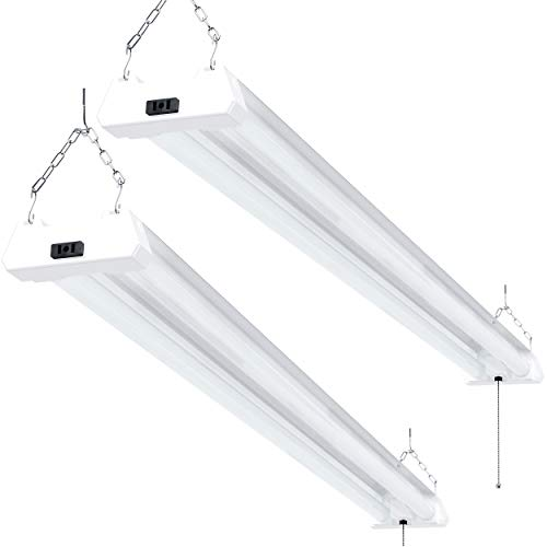 Sunco Lighting 2 Pack LED Utility Shop Light, 4 FT, Linkable Integrated Fixture,...