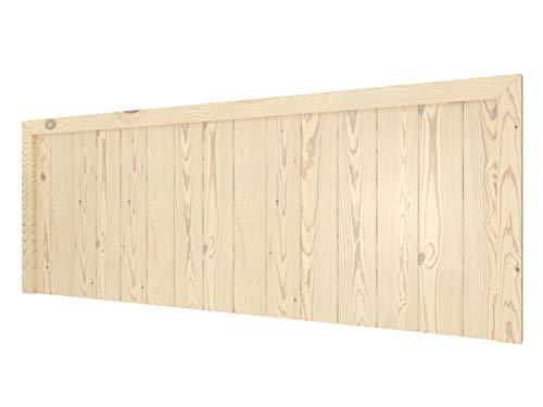 LA WEB DEL COLCHON - Cabecero de Madera Rústico Véneto para Cama de 150 (160 x 55 cms) Barnizado Natural | Cabeceros Madera | Dormitorio Matrimonio | Cabezal Cama |Estilo nórdico