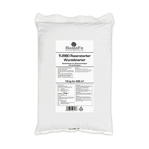 HaGaFe Turbo Rasenstarter Wurzelstarter Rasendünger mit viel Phosphat, 10kg (1x10kg)