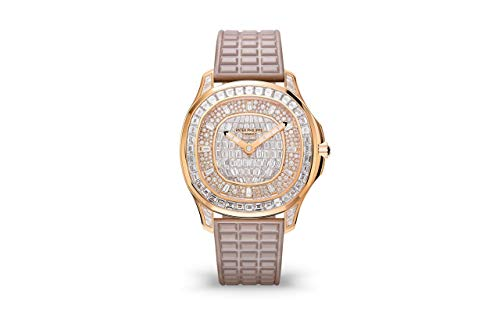 Patek Philippe Aquanaut Rose Gold 5062-450R-001 with 160 Brilliant-Cut Diamonds and 76 Baguette Diam