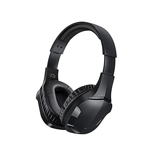 XJPB Auriculares de cancelación de Ruido Activo híbrido con múltiples Modos HI-Res Sound 4H Playte Playte Cómodo Ajuste Auriculares Bluetooth,Negro