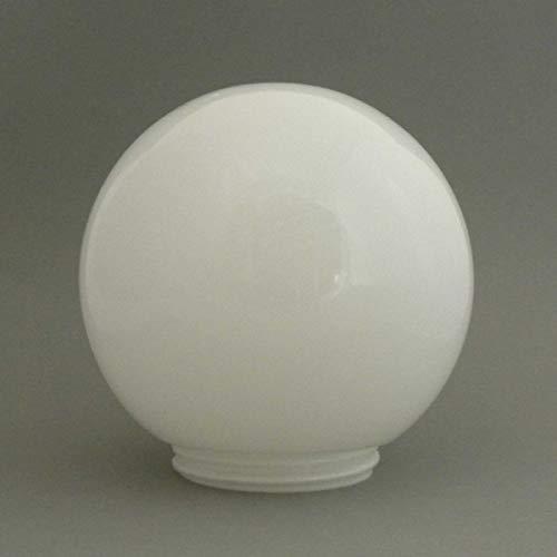 Kugelglas 18 cm opal glänzend mit Gewinde 8,45 cm